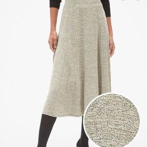Gap Softspun Metallic Midi Circle Skirt Small